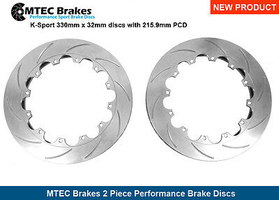 K-Sport 330mm x 32mm discs with 215.9mm PCD Replacement Grooved Discs