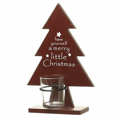 Free Standing Christmas Tree Tealight or Votive Candle Holder