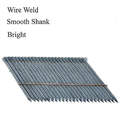 """2-3/8"""" Bostitch Style Nails F28WW 28 Degree Wire Weld Smooth Bright (1000)"""