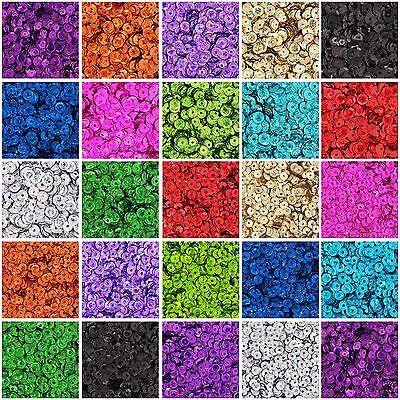 Loose Cup Sequins - Holographic - 720/pack - 4Mm & 6Mm 24 Colors - Threadart