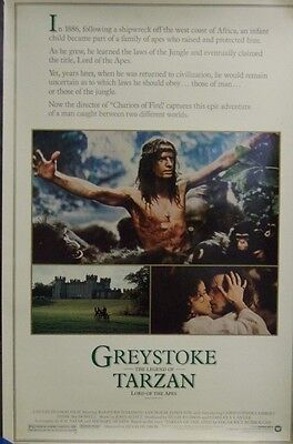 Greystoke The Legend of Tarzan Lord of the Apes Original Single Sided Poster