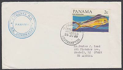 Panama Sc 463A on 1969 SS Australis PAQUEBOT Cover