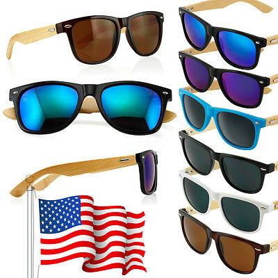 Bamboo Sunglasses Wooden Wood Mens Womens Retro Vintage Summer Glasses Vintage