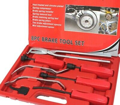 8pcs Professional Brakes Servicing Remove Install Brake Springs Tool Set