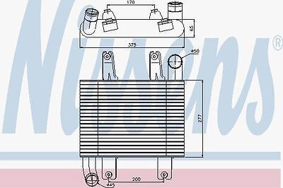 Nissens 96660 Intercooler fit TERRACAN (01-)