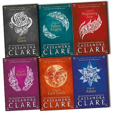 Cassandra Clare Mortal Instruments 6 Books Collection Pack Set- New Cover
