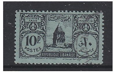 Lebanon - 1948, 10p Postage Due stamp - Used - SG D381