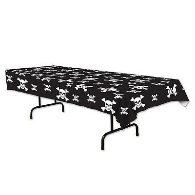 Pirate Skull & Crossbone Birthday Party Supplies Plastic Tablecloth Table Cover