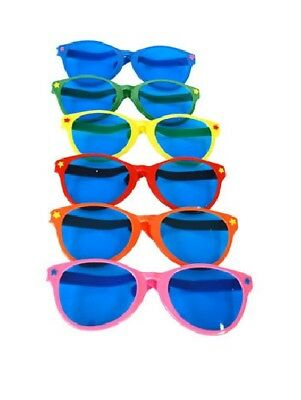 Jumbo Giant Clown Novelty Sunglasses Glasses Plastic Novelty Costume Huge Frames