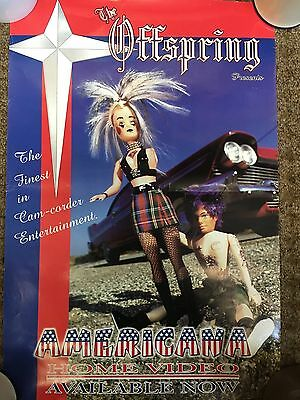 """The Offspring - Americana Home Video Promo Poster 13"""" x 19"""" Punk 90's Doll Punk"""