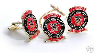 Nra Endowment Tie Clip And Cuff Link Cufflinks Set