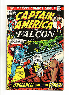 Captain America Vol 1 No 157 Jan 1973 (FN+) Marvel, Bronze Age (1970 - 1979)