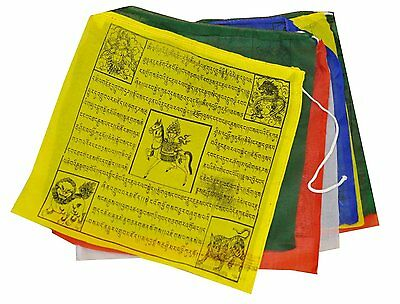 "YM01 Buddhist Tara Buddha Windhorse Cotton Prayer Flags 8"",  5 Rolls Nepal Tibet"