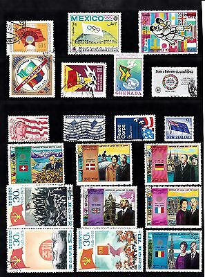 FLAGS Thematic Stamp Collection USED Ref:TH305