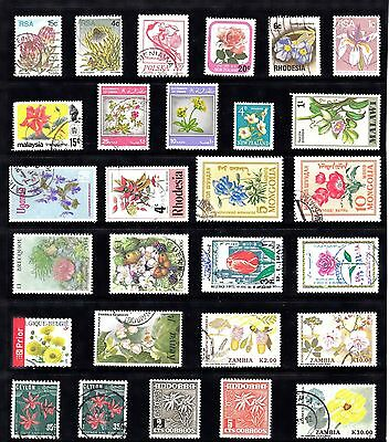 FLOWERS Thematic Stamp Collection majority USED Ref:TH303