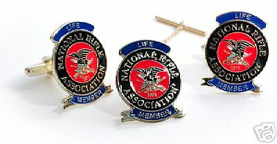 Nra Life Member Tie Clip And Cuff Link Cufflinks Set