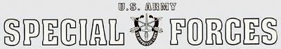 Army Special Forces Black White  Car Window Strip Decal