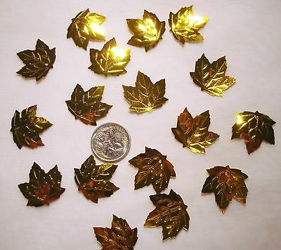 Wedding Table Scatters Foil Confetti Maple Leaf - Gold