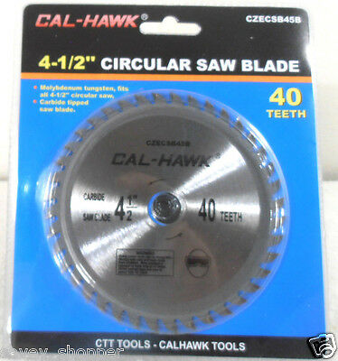 "4 1/2"" Carbide Tungsten Circular Saw Blade 40 Tooth 5/8"" Arbor"