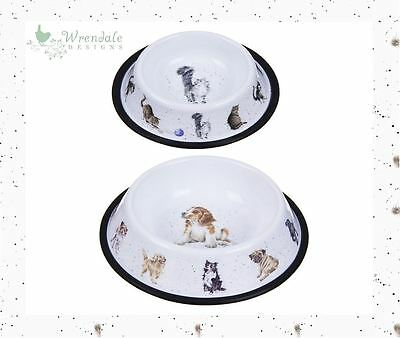 Wrendale Cat or Dog Food Pet Bowl Dish, Puppy Canine Kitty Kitten Pug