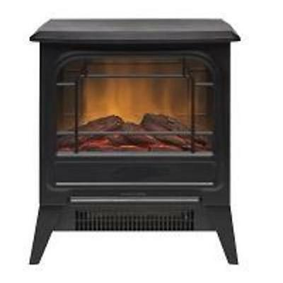 Glen Dimplex GLN12MS 600W or 1.2kW OptiFlame Electric Stove Free Standing Black