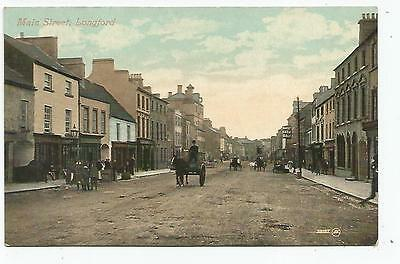 irish postcard ireland longford main street