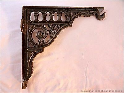 Beautiful Antique Style Large Cast Iron Hanging Bracket Flower Basket Light