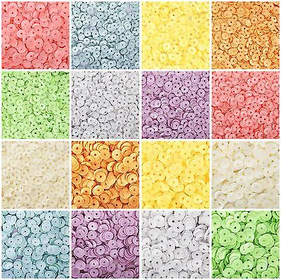 Loose Cup Sequins - Pastel - 8 Colors - 2 Sizes - 720/Pack - Threadart