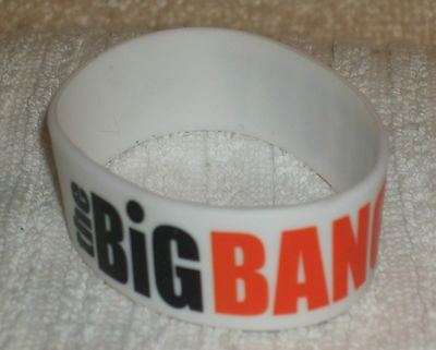 RUBBER WRISTBANDS *** THE BIG BANG THEORY *** NEW - 25 cm - COLOUR WHITE