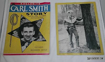 The CARL SMITH Story PROMO Magazine 1950's Country Music JUNE CARTER CASH Family
