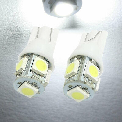 2 x White W5W T10 501 LED SIDE LIGHT / INTERIOR / NUMBER PLATE BULB 5 SMD