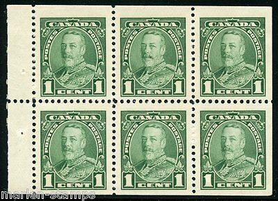 CANADA BOOKLET PANE SCOTT#217b  GEORGE V MINT NEVER HINGED FULL ORIGINAL GUM