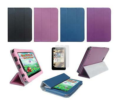 Folio Skin Cover Case and Screen Protector for Lenovo IdeaTab A2107 Tablet