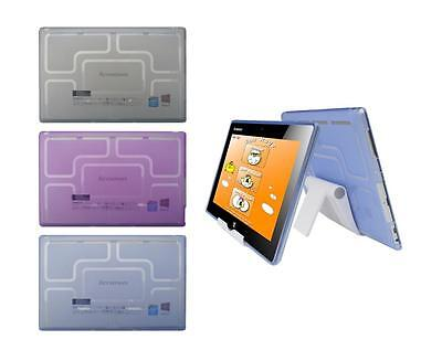 View Stand Holder + TPU Gel Skin Case Cover for Lenovo IdeaPad Miix 10 Tablet