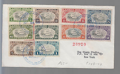 1946 Costa Rica Airmail Registered First Day Cover to USA FDC # C128-C113