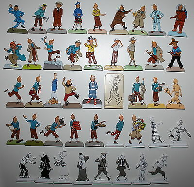TINTIN MOULINSART HERGE RELIEF METAL FLAT FIGURINE h 5cm from 29200 to 29243