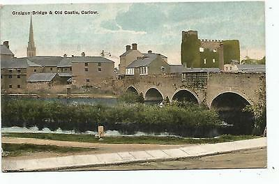 irish postcard ireland carlow bridge and castle