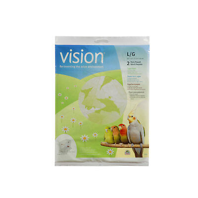 Vision Cage Paper Large, 2 pack Suitable for Large Regular and Tall Bird Cage