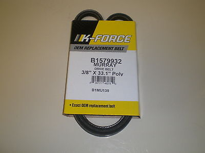 3/8 x 33.13 TRACTION BELT fits Murray, Craftsman snowblower 1733324sm, 579932ma