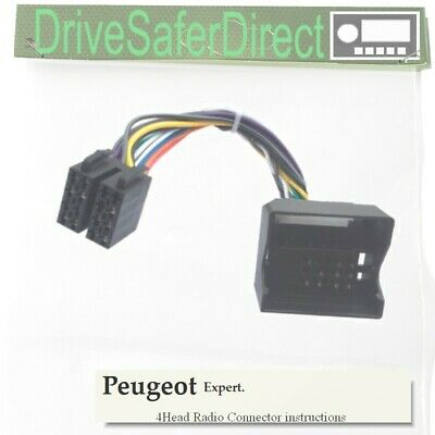 4-Head-6000-24 Radio Adaptor Cable for Alpine Android ISO/Peugeot Expert