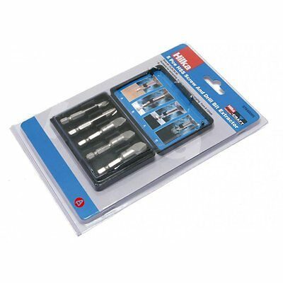 Screw & Drill Bit Extractor Set 5 Pc Piece Extraction Kit Hilka 37840005