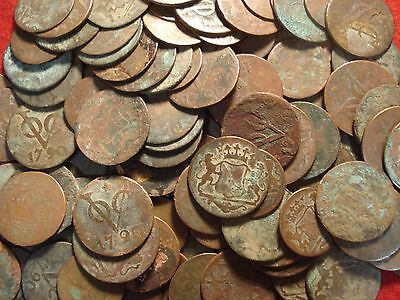 First New York Penny Dutch East Indies 1790 Duit Shipwreck Salvaged Coin