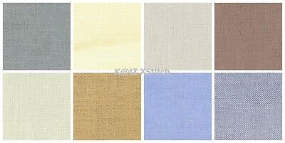 32ct PERMIN (WICHELT) LINEN (FAT QUARTER 19½x27½in / 50x70cm) - Various Colours