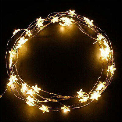 30 Warm White LED Indoor Bedroom Home Party Decor String Star Fairy Lights
