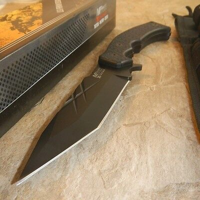 """NEW! 11"""" Mtech Xtreme Black G10 Full Tang Tactical Defense Fixed-Blade Knife"""