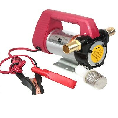 12v Diesel Oil and Fuel Transfer Extractor Pump Motor Self Priming 11GPM New