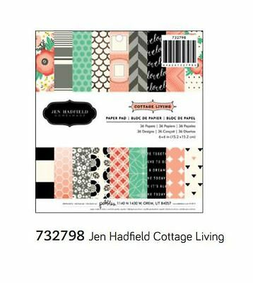 """American Crafts 6""""x6"""" Paper Pad ~JEN HADFIELD ~ COTTAGE LIVING ~ 36ct  ~ 732798"""