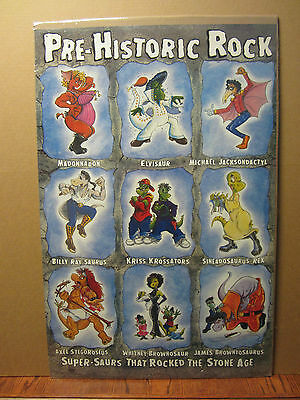 Prehistoric rock n roll original super-saurs that rocked stone age Poster 972