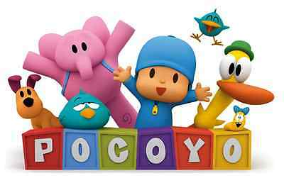 """Pocoyo Onesie-Size Iron On Transfer 3""""x4.75"""" for LIGHT Colored Fabric"""
