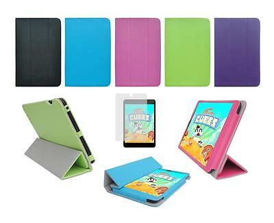 """Folio Cover Case and Screen Protector for Iview SupraPad 7.85"""" i785QW Tablet"""